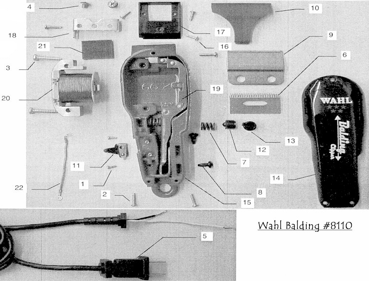 Wahl Balding Clipper Parts List Clipperparts Images Wahl8110 Jpg