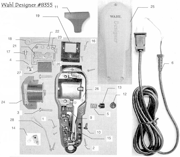 wahl8355 oster a5 clipper parts pictures to pin on pinterest thepinsta oster a5 wiring diagram at bayanpartner.co