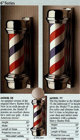 barber pole manufacturing business. Mr. Marvy made his 50,000th barber ...